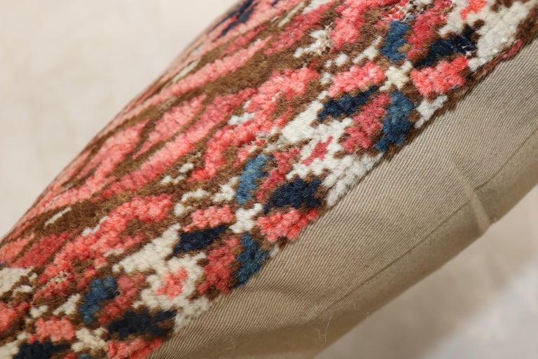 Hand-Woven Lumbar Antique Turkeman Rug Pillow For Sale