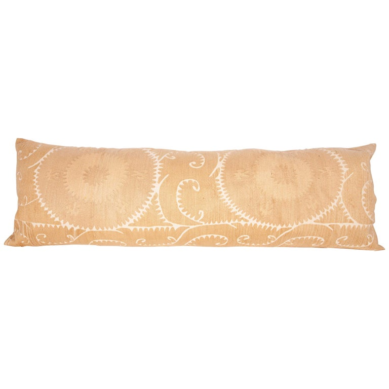 Lumbar / Body Pillow Fashioned from a Vintage Suzani For Sale