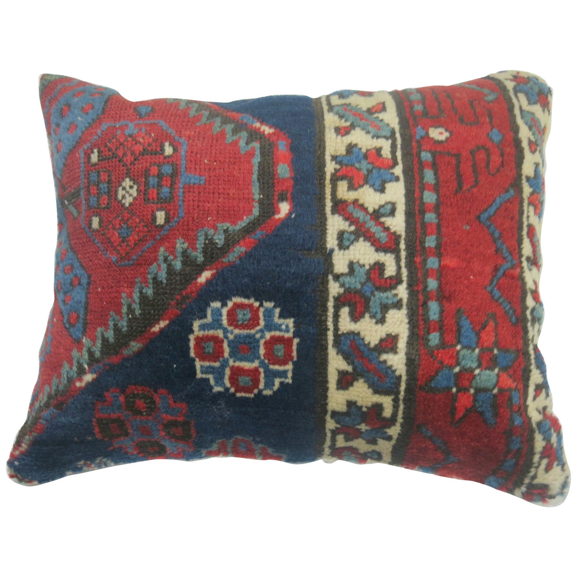 Lumbar Persian Heriz Rug Pillow