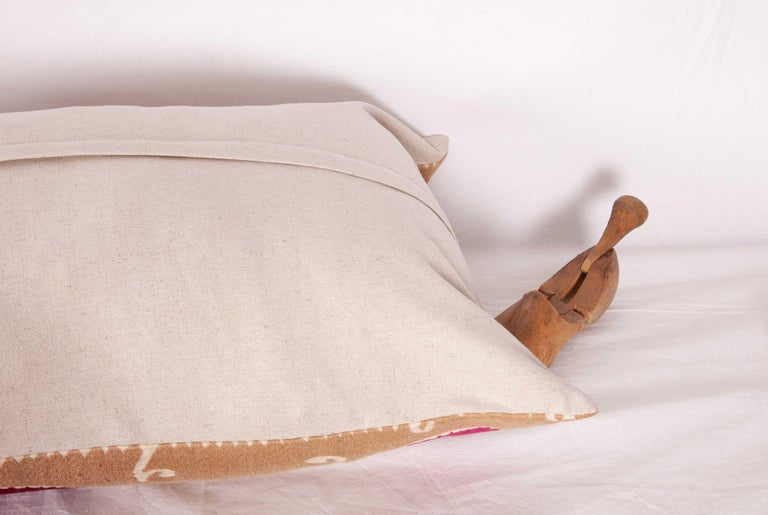 Lumbar Pillow Case Fashioned from a Mid-20th Century Samarkand Suzani For Sale 6