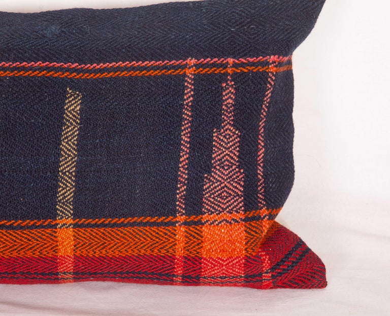 Kilim Lumbar Pillow Case Fashioned from a Mid-20th Century Anatolian Cover For Sale