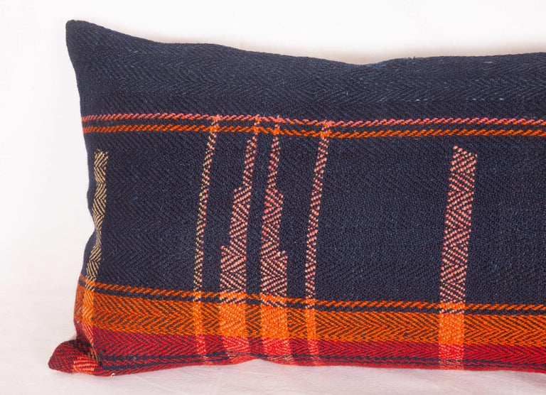 Hand-Woven Lumbar Pillow Case Fashioned from a Mid-20th Century Anatolian Cover For Sale