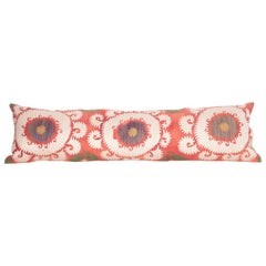 Lumbar Pillow Case Fashioned from a Mid-20th Century Uzbek suzani