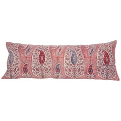 Lumbar Pillow Case Fashioned from an Antique Indian Qalamkar Panel, 19th Century
