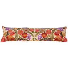 Lumbar Pillow Case Fashioned from an Early 20th Century Indian Embroidery
