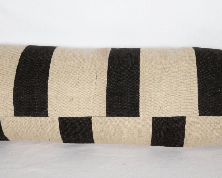 Kilim Lumbar Pillow Case Fashioned from Contemporary Weaving For Sale