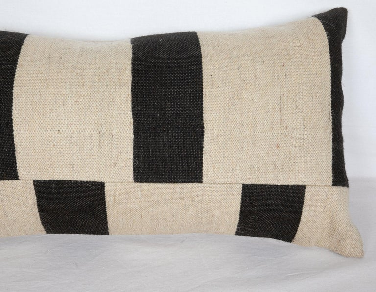Turkish Lumbar Pillow Case Fashioned from Contemporary Weaving For Sale