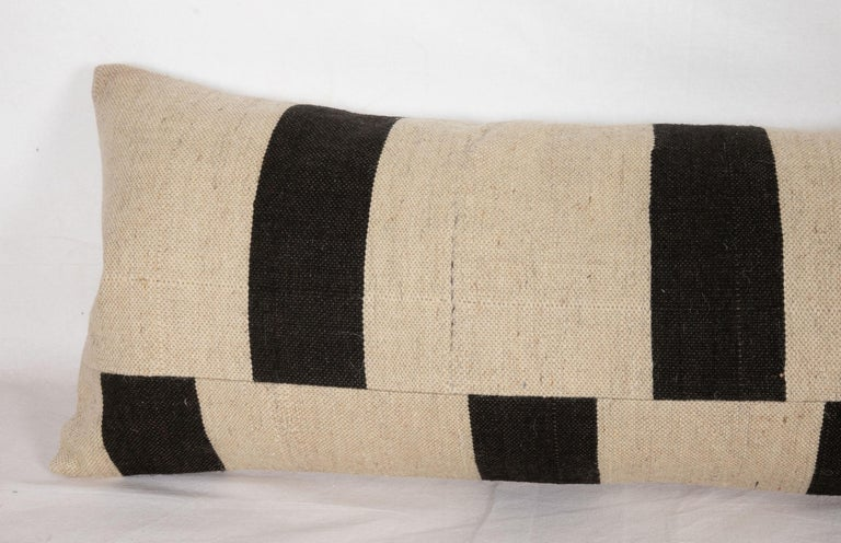 Hand-Woven Lumbar Pillow Case Fashioned from Contemporary Weaving For Sale