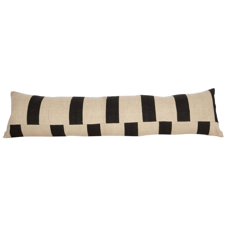 Lumbar Pillow Case Fashioned from Contemporary Weaving For Sale