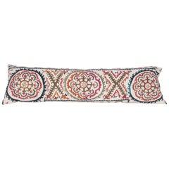 Lumbar Pillow Case Made from a Mid-20th Century, Uzbek Suzani