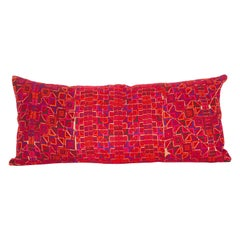Lumbar Pillow Case Made from Middle Eastern Bedouin Embroidery, Mid-20th Century