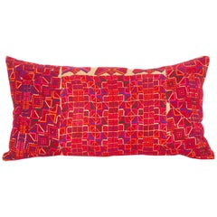 Lumbar Pillow Case Made from a Middle eastern Bedouin Embroidery