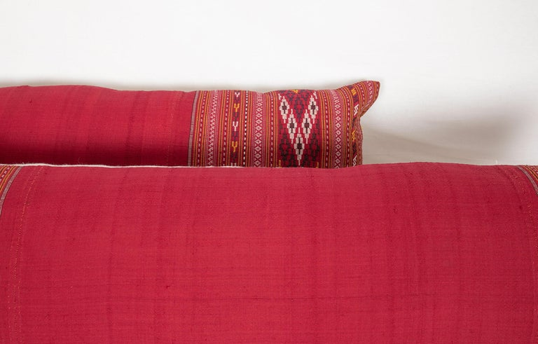 Lumbar Pillow Cases Fashioned from an Early 20th Century Turkmen Shawl In Good Condition For Sale In Istanbul, TR