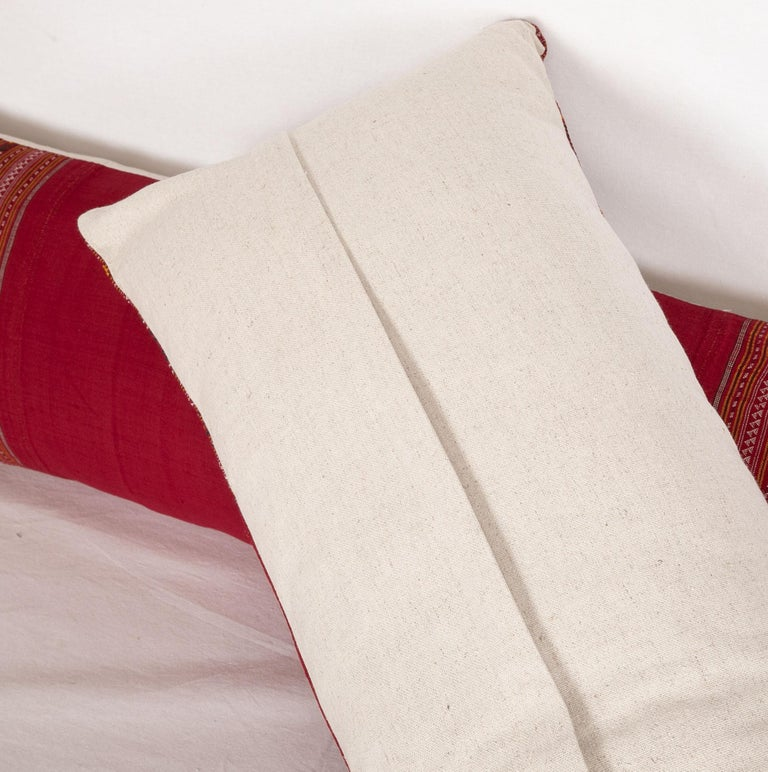 Lumbar Pillow Cases Fashioned from an Early 20th Century Turkmen Shawl For Sale 2