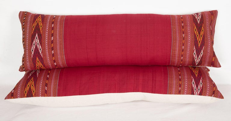 Lumbar Pillow Cases Fashioned from an Early 20th Century Turkmen Shawl For Sale 3