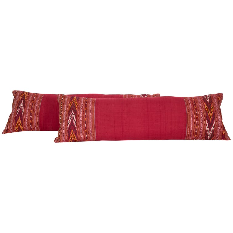 Lumbar Pillow Cases Fashioned from an Early 20th Century Turkmen Shawl For Sale