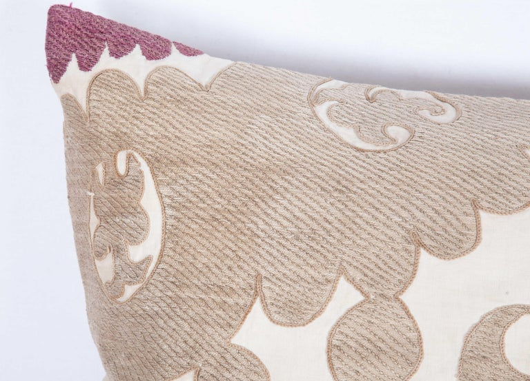 Lumbar Pillow Cases Fashioned from an Early 20th Century Uzbek Suzani For Sale 1