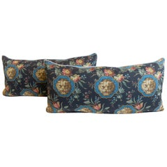 Lumbar Pillow with Gucci Lion Print