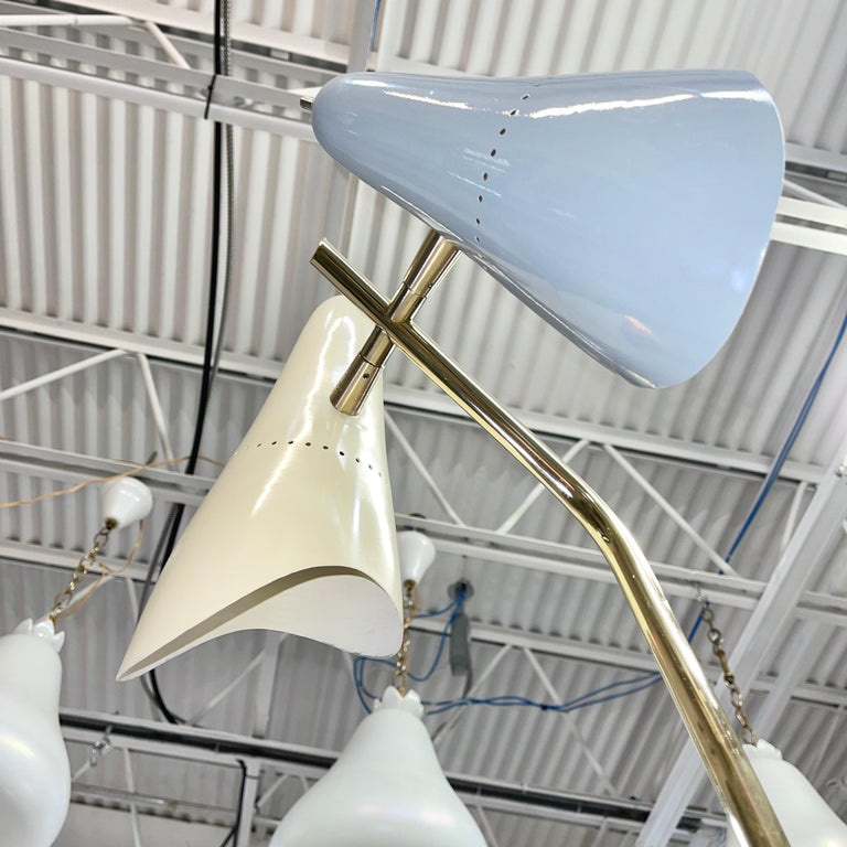 Lumen Milano 1950s Floor Lamp by Oscar Torlasco For Sale 11