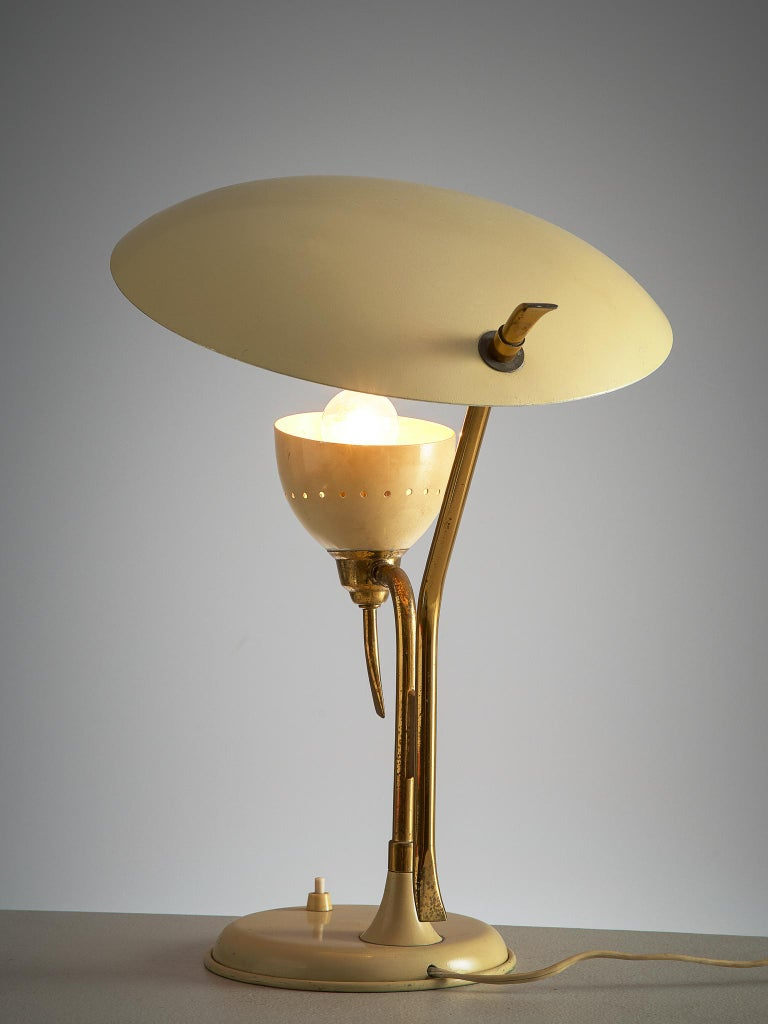 Mid-Century Modern Lumen Milano Table Lamp, 1950s For Sale