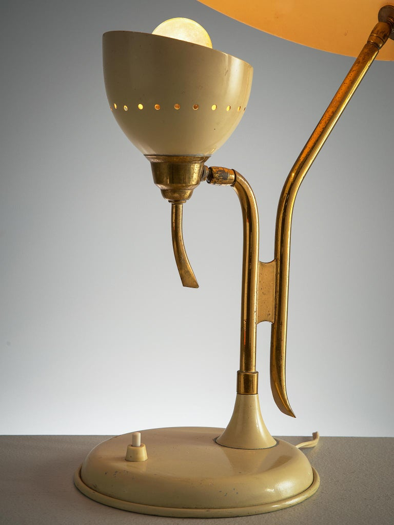 Metal Lumen Milano Table Lamp, 1950s For Sale