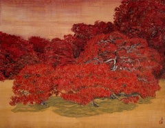Chatty Trees, Japanese Style Landscape Painting
