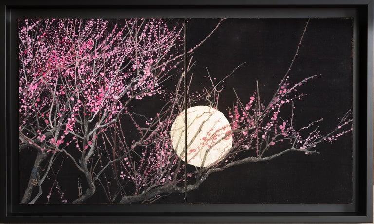 Lumi Mizutani Landscape Painting - Nocturn III, Japanese Painting