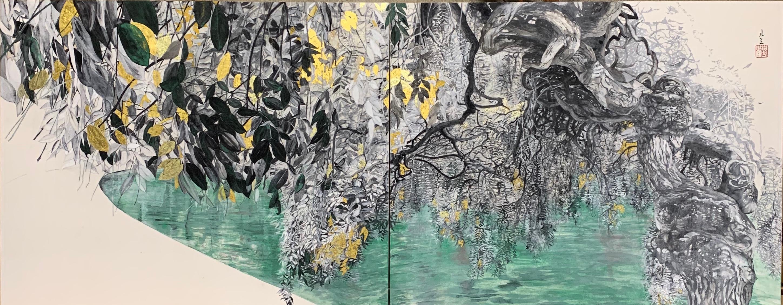 Soupçon automnal, Japanese Style Landscape Painting