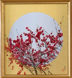 The High Line by Lumi Mizutani - Japanese Style Landscape painting, gold and red