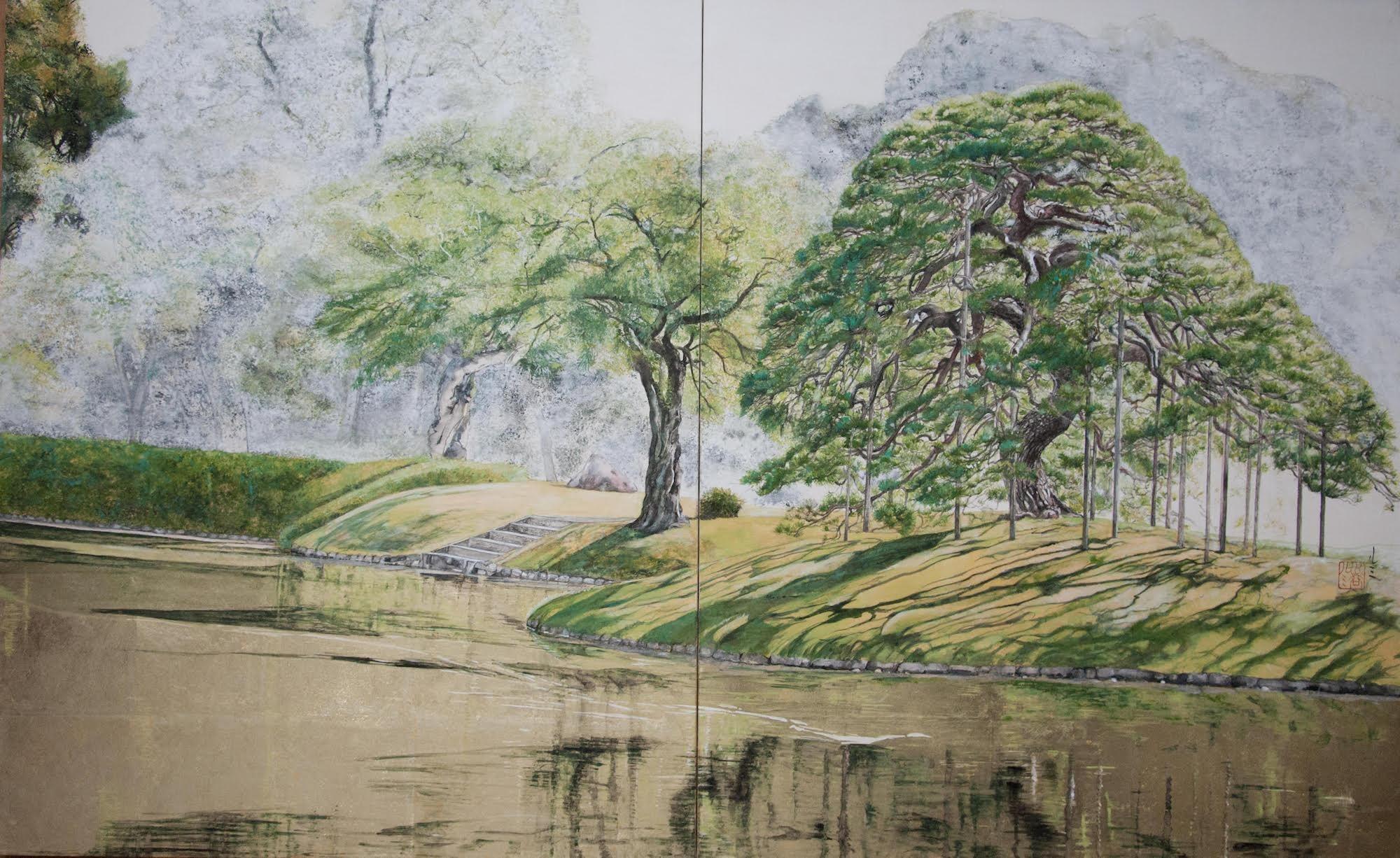 Tokyo Landscape - Hitotsumatsu III (contemporary landscape painting)