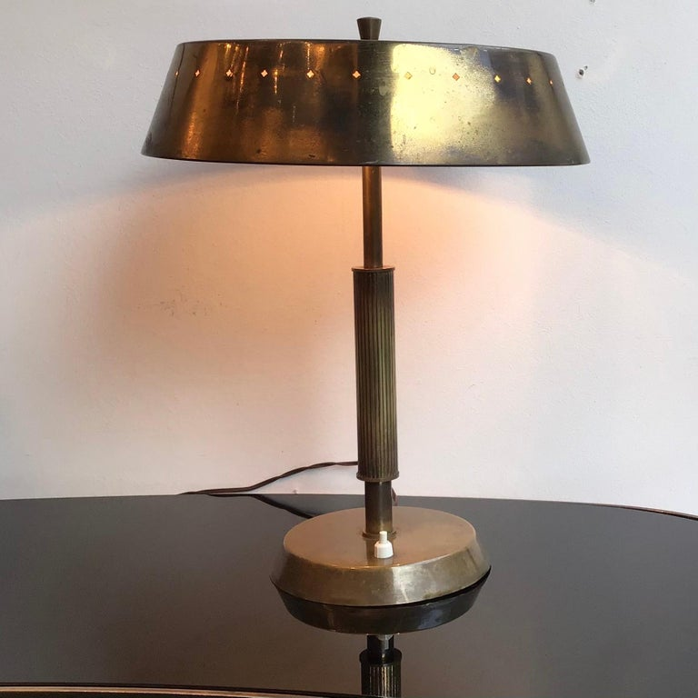 Italian Lumi Table Lamp Brass, 1945, Italy  For Sale
