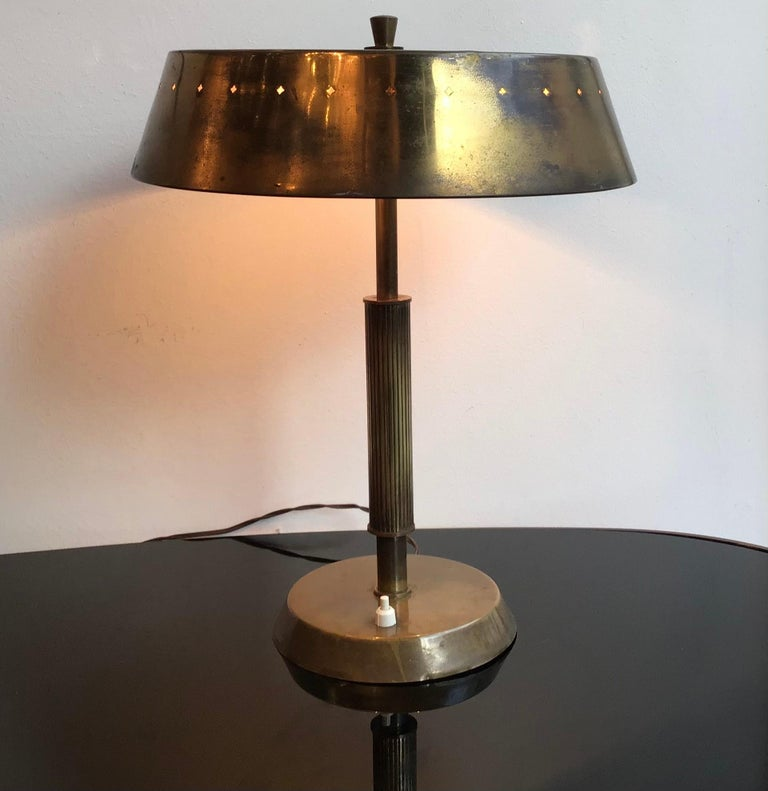 Lumi Table Lamp Brass, 1945, Italy  For Sale 3