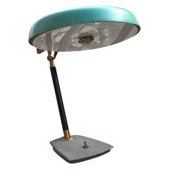 Lumi Table Lamp Brass Metal Plexiglass, 1950, Italy