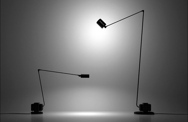 Modern Lumina Daphine LED Floor Lamp in Bronze Metal Paint by Tommaso Cimini For Sale