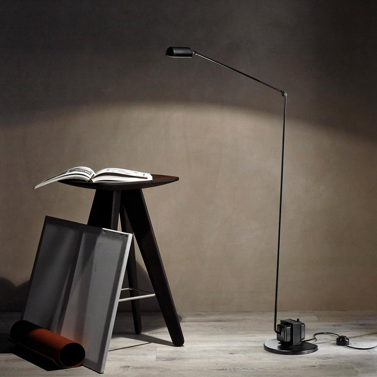 Italian Lumina Daphine LED Floor Lamp in Bronze Metal Paint by Tommaso Cimini For Sale