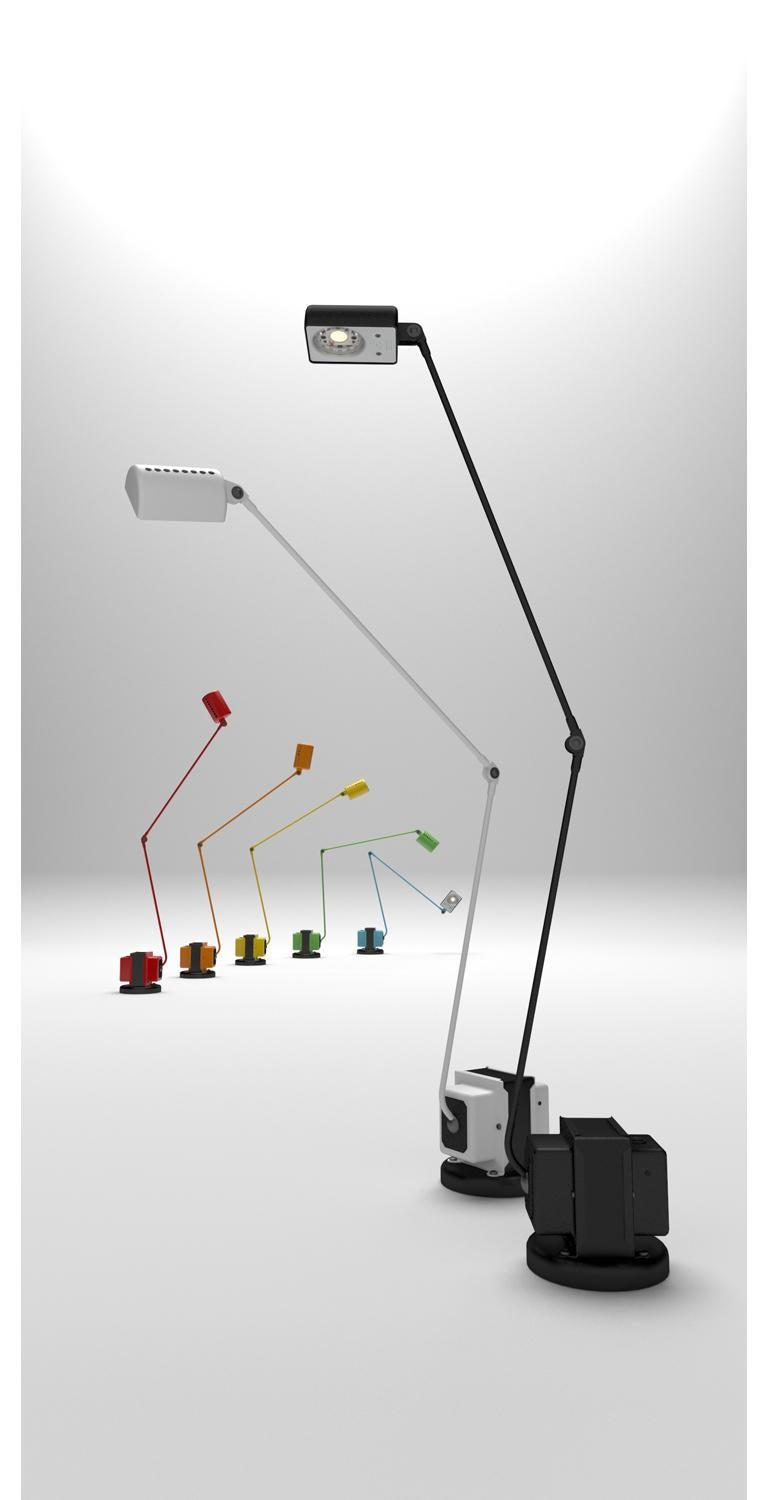 Contemporary Lumina Daphine LED Floor Lamp in Bronze Metal Paint by Tommaso Cimini For Sale