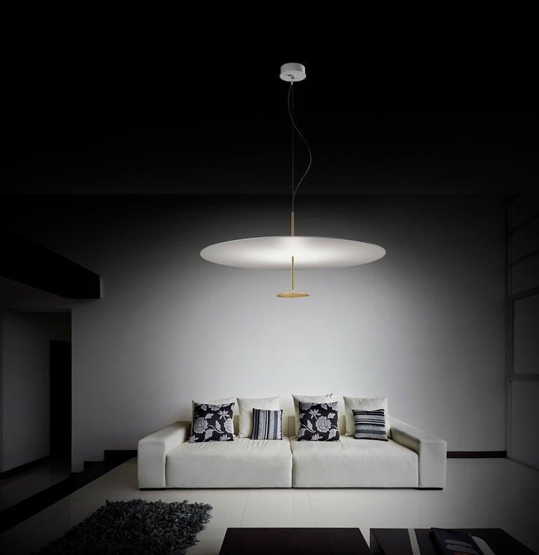 Modern Lumina Dot Medium Pendant Light in Brass by Foster+Partners For Sale