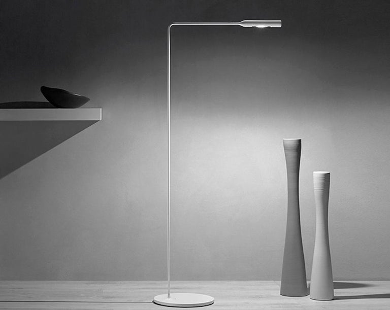 Italian Lumina Flo Floor Lamp in Black by Foster+Partners For Sale