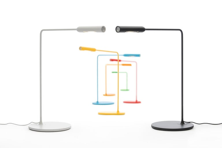Modern Lumina Flo Lounge Floor Lamp in Brushed Nickel by Foster+Partners For Sale