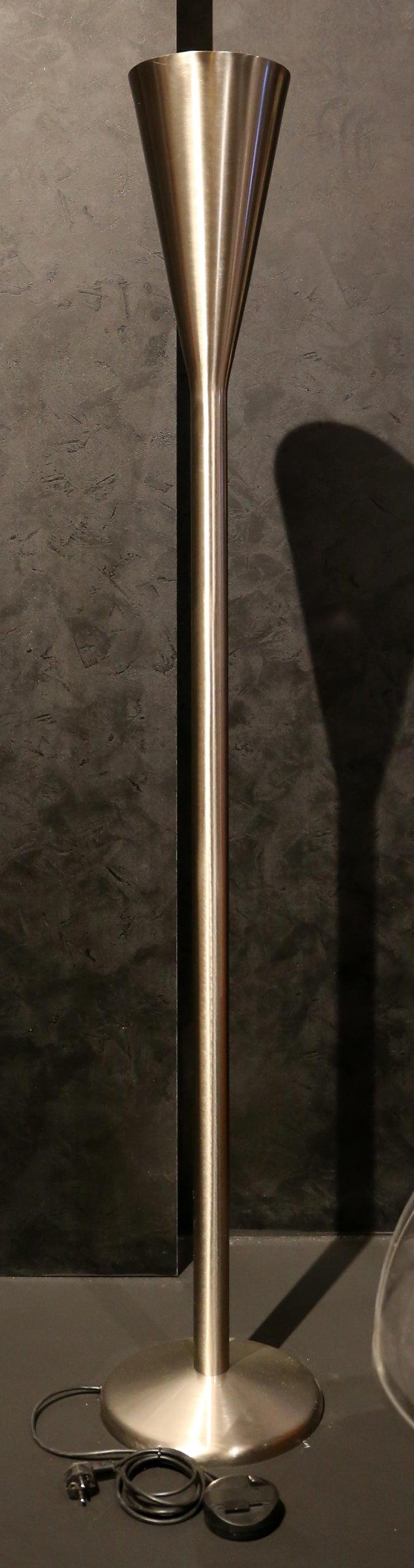 Modern FontanaArte Luminator Floor Lamp by Pietro Chiesa 1933 Nickel-plated Brass MCM For Sale