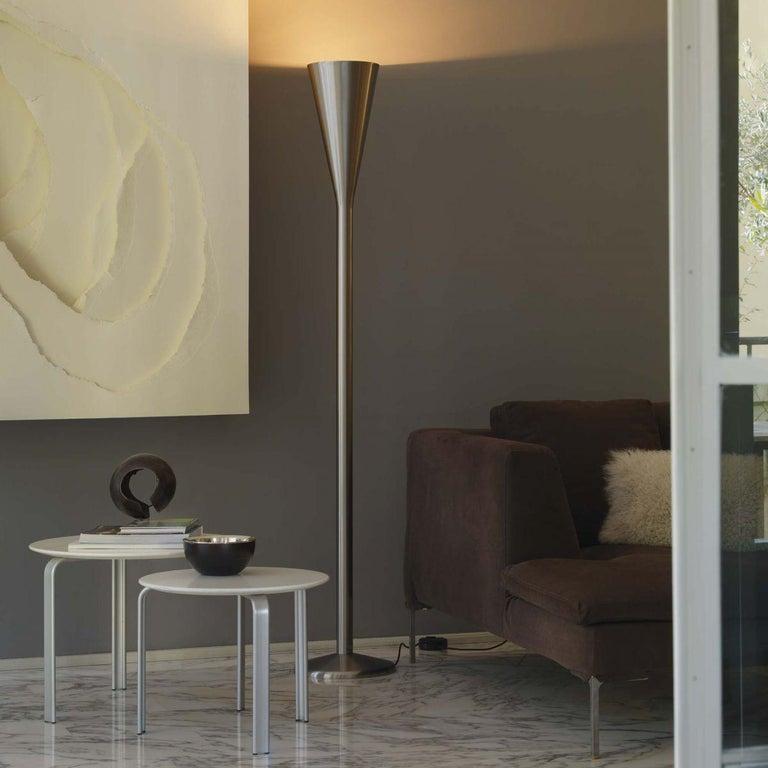 Italian FontanaArte Luminator Floor Lamp by Pietro Chiesa 1933 Nickel-plated Brass MCM For Sale