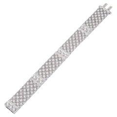 White Gold 18 K 750, Diamond Round - Pricesse, Modern Luminescence Bracelet