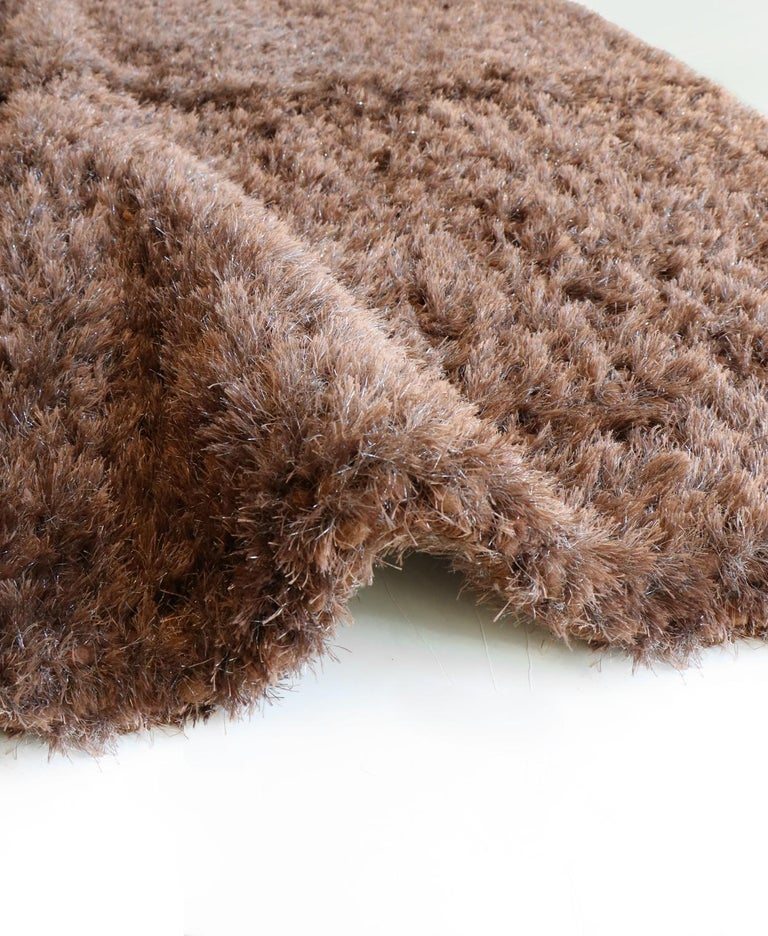 Indian Luminous Brown Rug Ideal for Open Spaces and Modern Living by Deanna Comellini For Sale