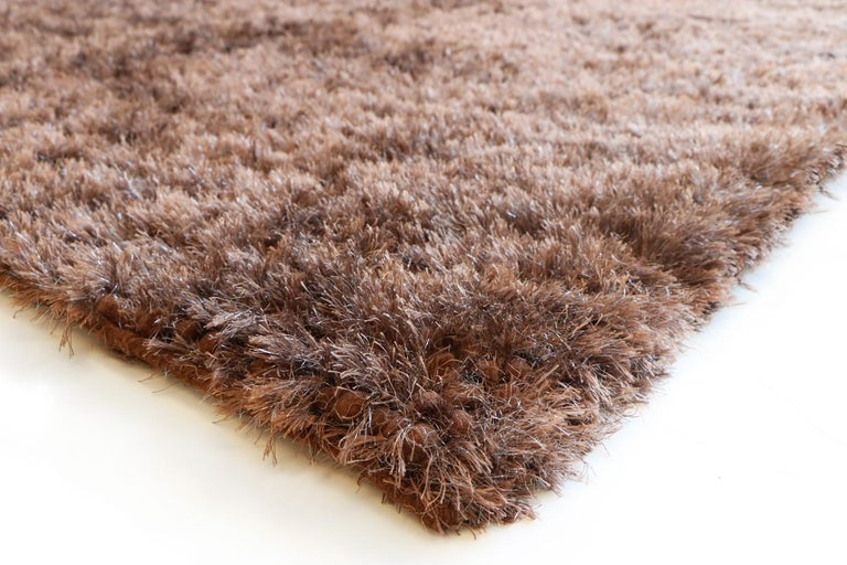 Woven Luminous Brown Rug Ideal for Open Spaces and Modern Living by Deanna Comellini For Sale