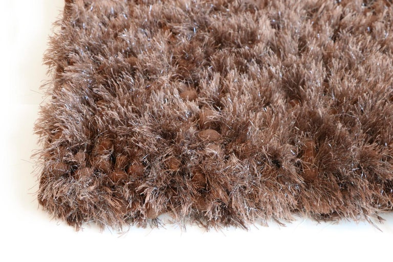 Luminous Brown Rug Ideal for Open Spaces and Modern Living by Deanna Comellini In New Condition For Sale In Bologna, IT