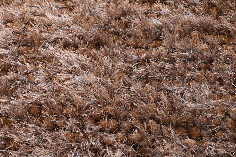 Contemporary Luminous Brown Rug Ideal for Open Spaces and Modern Living by Deanna Comellini For Sale
