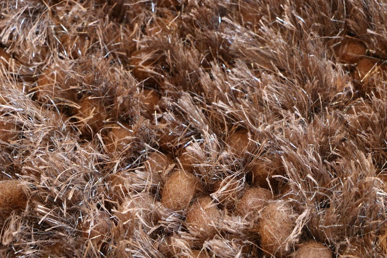 Wool Luminous Brown Rug Ideal for Open Spaces and Modern Living by Deanna Comellini For Sale