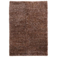 Luminous Brown Rug Ideal for Open Spaces and Modern Living by Deanna Comellini