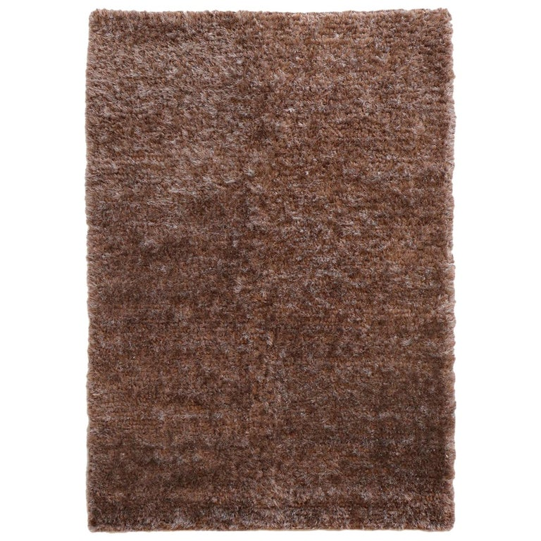 Luminous Brown Rug Ideal for Open Spaces and Modern Living by Deanna Comellini For Sale