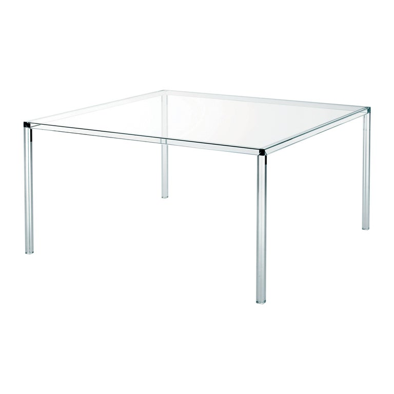 Luminous Square Transparent High Glass Table, by Tokujin Yoshioka, Glas Italia For Sale